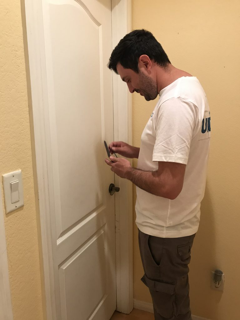 how to unlock a door